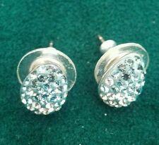 SWAROVSKI earrings blue/clear oval shape elegant