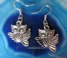 Ohrhänger Ohrring Eule 19 Haken aus Silber 925 dangle earring owl