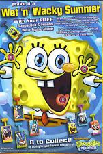 2 SPONGEBOB SQUAREPANTS  Water Squirter sponge bob cereal GM General Mills crab