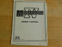 MEGATOUCH IV  4     arcade  video game manual