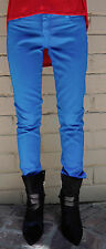 Bleulab Detour Reversible Azure Blue Coated Legging Jeans 26 Womens
