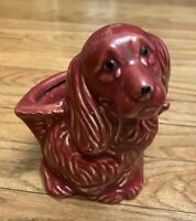 Vintage Ceramic Cocker Spaniel Puppy Dog Planter 5 Inches Tall