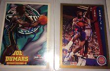 Joe Dumars f. Detroit Pistons NBA HOF guard auto autograph basketball card LOT !