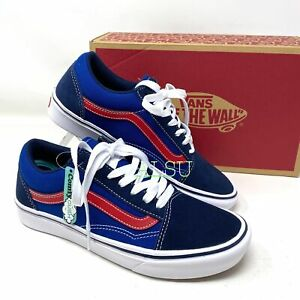 VANS Comfycush Old Skoll Tri-Tone Suede Canvas Blue Women's Sneakers VN0A3WMA1RP