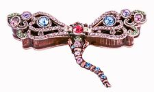 Hand Made Dragonfly Trinket Box. Made with Enamel & Colorful Swarovski Crystals