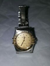 ladies Omega Constellation Swiss made steel gold quarts watch