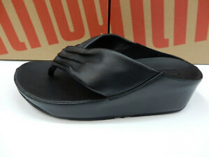 FitFlop Womens Twiss Black Size 7