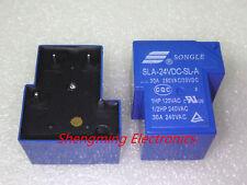 10PCS SLA-24VDC-SL-A SONGLE Power Relay 4Pins 24V DC coil PCB type electromagnet
