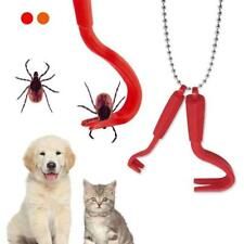 2x Zeckenzange Zeckengreifer Zeckenpinzette Zeckenentfernung Tiere Menschen rot
