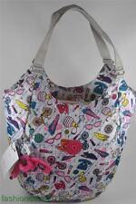 New With Tag Kipling MOLDE Medium Shoulder Tote Bag-  Sweet Shop White Print