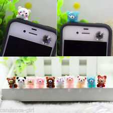 3D Cell Phone Earphone Cartoon Cute Ear Cap Anti Dust Plug Cover Decor 3.5mm Hot