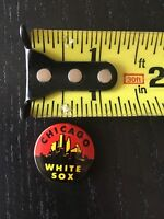 "1963 CRANE POTATO CHIPS CHICAGO WHITE SOX VINTAGE BASEBALL 1"" PIN 3219"