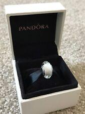 White Faceted - Genuine PANDORA Charm