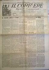 IL CORRIERE AGRIC. COM. 20 FEBBRAIO 1921 LA GUERRA E LA COLTURA DEL GRANO - 653