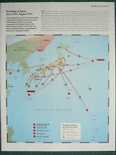 WW2 WWII MAP BOMBING OF JAPAN JUNE 1944 - AUG 1945 ALLIED AIR ATTACKS FIRE-BOMB