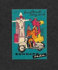 Germany Zundapp Bella Motor Scooter advertisement poster stamp