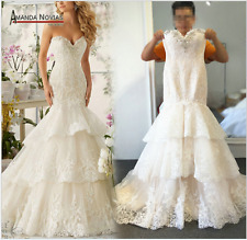 New white/ivory mermaid wedding dress custom size 6 8 10 12 14 16 18 20 22 +++
