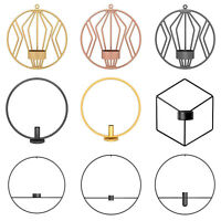 Geometric Metal Candle Holder Round Candlestick Wall Mount Decor Wedding Sconce