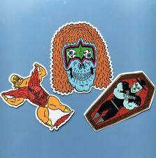 WRESTLING STICKERS - DEATH MATCH #1 SET OF 3 STICKERS BY RUSSEL TAYSOM