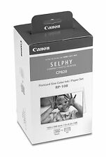 Canon RP-108 Postcard Size Color Ink/Paper Set for Selphy Printer CP820& CP1000