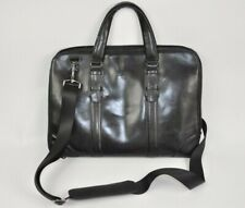 """Pierre by Elba  Computer Bag Leather Black 16"""""""