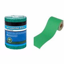5 mtr 40 Grit Sand Paper Roll Abrasive Anti Clog Green Aluminium Oxide