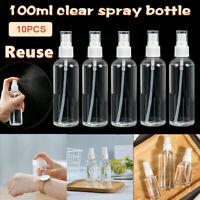 50ML/100ml Travel Transparent Plastic Perfume Atomizer Empty Spray Bottle Lot