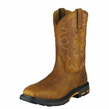 """Ariat 10006959 Workhog Safety Toe 11"""" Pull On EH Rated Western Cowboy Work Boots"""