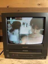 "Sharp 13"" Portable Vintage Gaming Television TV/VCR Combo 13VT-R100 No Remote"