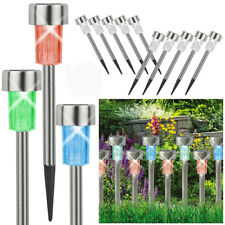 1/5/10pcs Stainless Steel Waterproof LED Solar Lawn Lights Outdoor Garden Decor