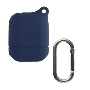 KEY Silicone AirPod Soft Case for Apple Airpods (1st/2nd Generation)- Dark Denim