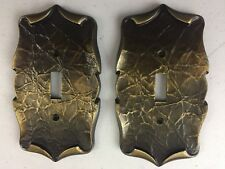 Vintage Amerock Carriage House Antique English Brass Light Switch Cover Plate