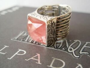 SILPADA RARE RETIRED Sterling Silver 925 Cherry Pink QUARTZ Ring Size 6.5 R1191