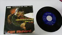 "CLIFF RICHARD CONGRATULATIONS ESPAÑOL SINGLE 7"" VINYL SPANISH EDITION MEGA RARE"