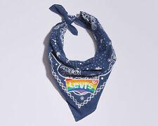 Levi's Unisex Pride Embroidered Logo Bandana LGBT Rainbow Batwing