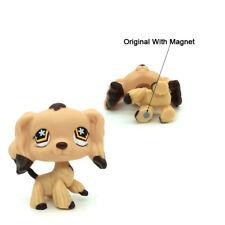 Littlest Pet Shop #575 Cocker Spaniel Dog Brown Dipped Ears Flower Eyes LPS Toys
