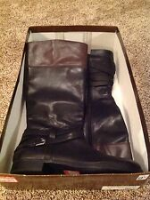 Audrey Brooke Abannya Sz 9 1/2 Black Multi Leather Tall  Women's Boots NIB