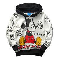 Girls Boys Kids Jumper Top Hoodie Sweatshirt Cartoon Winter Jacket Coat Pullover
