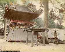 Japon, Korean Bronze Bell at Nikko  Vintage albumen print, Japan Tirage al