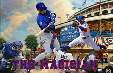 Chicago Cubs Lithograph print of  javy baez 17 x 11