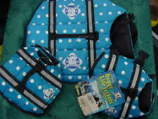 PAWS ABOARD BLUE DOT DOGGY LIFE JACKETS PFD 3 LOT (2  XXS  SIZE & ONE SMALL SIZE