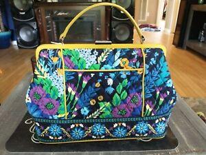 Vera Bradley Tote Bag Purse in Midnight Blues Retired Pattern hand bag