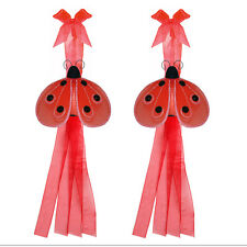 Ladybug Tieback Red Black Shimmer Lady Bugs Curtain Tie-Back Nylon Girls Nursery
