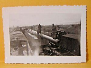 original WWII photograph U.S. ARMY VET 1944 FRANCE german RAIL GUN RHONE VALLEY