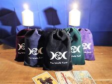 Tarot card bag pouch (XL)-Velvet  with Satin Lining - Bag pouch bag box