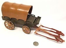 Playmobil Vintage Western Covered Wagon With Horse Harnesses
