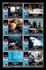 Jaws ✯ CineMasterpieces Original Movie Poster Lobby Card Set 1975 Nm-M C9-C10