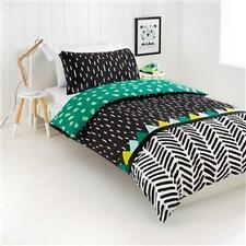 Double Bed Kids / Boys Wild Thing Black Green Yellow Doona / Quilt Cover Set
