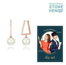 Stonehenge Silver Earrings K1330 Touch Your Heart Korea Drama Yu in Na's Earring