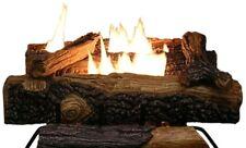 """Fake Fireplace Log Set 18"""" Mountain Vernon Oak Vent Free Natural Gas Dual Burner"""